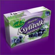 Ksylitolki - drażetki pudrowe o smaku jagodowym 40g