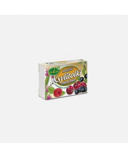 Ksylitolki owocowe - drażetki pudrowe o smaku owocowym 40g