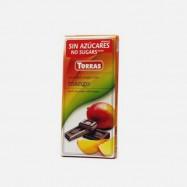 Czekolada gorzka z mango bez cukru 75g