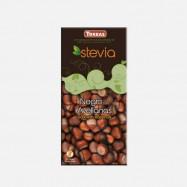 Czekolada Torras Stevia gorzka z orzechami laskowymi bez cukru 125g