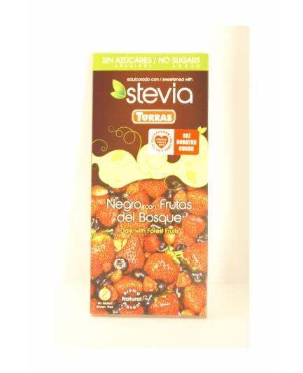 Czekolada Torras Stevia gorzka z owocami leśnymi bez cukru 125g