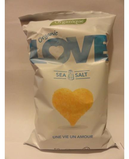 Chrupki kukurydziane LOVE z solą morską bezglutenowe 50g