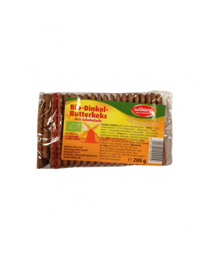 Herbatniki orkiszowe maślane z czekoladą 200g Bio