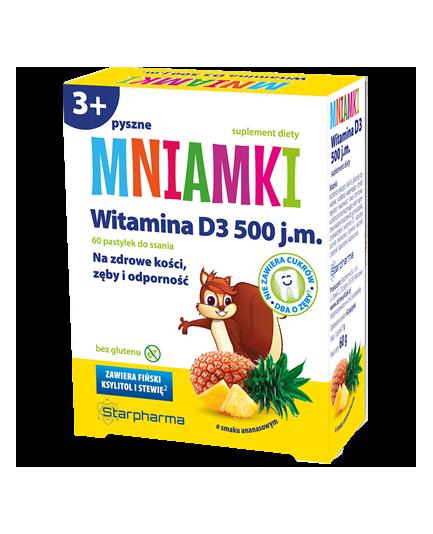 MNIAMKI WITAMINA D3 60 PASTYLEK