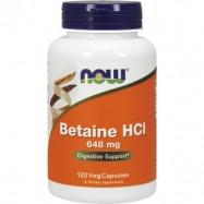 NOW BETAINE HCL 648MG 120KAPS.
