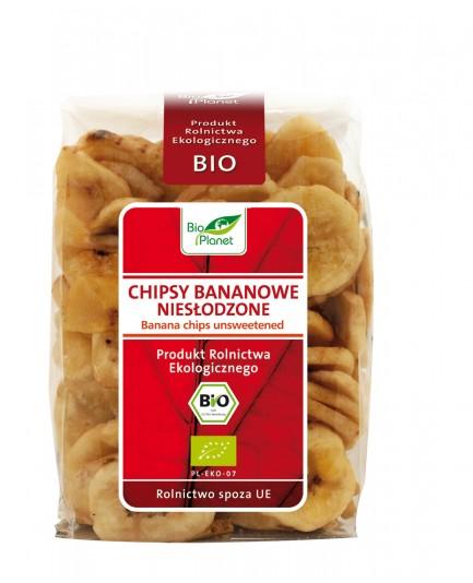 Chipsy bananowe niesłodzone bio