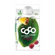 Woda kokosowa o smaku zielonej herbaty i brzoskwini bio 330ml