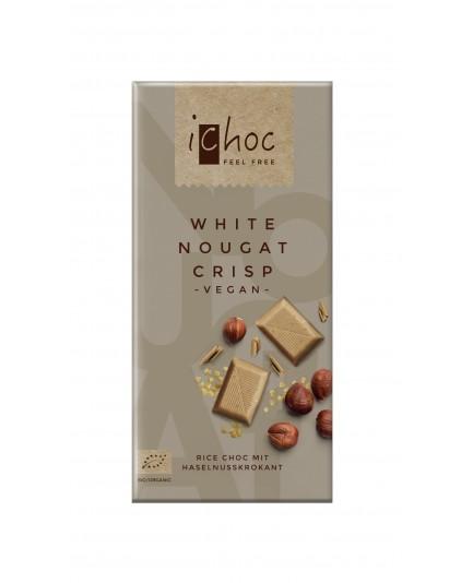 Czekolada iCHOC z kawałkami ciastek kakaowych (na napoju ryżowym) BIO 80g - VIVANI
