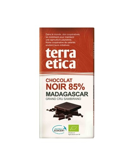 Czekolada gorzka 85% Madagaskar Fair Trade Bio 100g