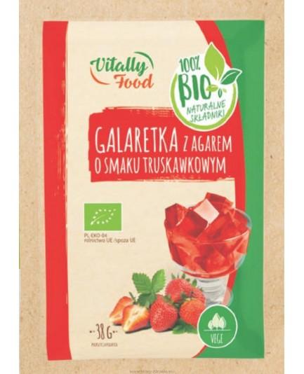 GALARETKA TRUSKAWKOWA Z AGAREM BIO 38G VITALLY FOOD
